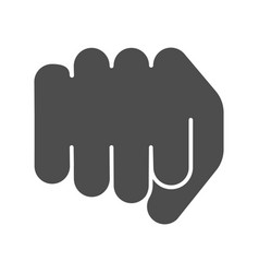 fist solid icon forward punch vector image