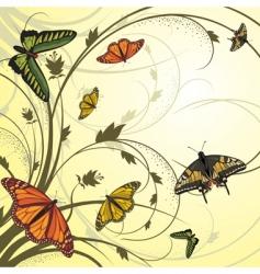 Flying butterflies vector