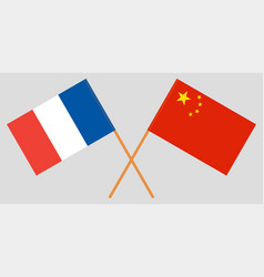 france and republic of china flags official colors vector image
