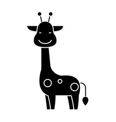 giraffe icon black sign on vector image