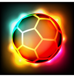Glowing Soccer Ball vector image