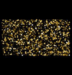 golden glitter star confetti on a black background vector image