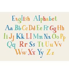 Hand cut alphabet vector