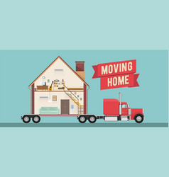 house moving service banner vector image