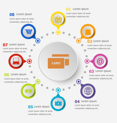 infographic template with ecommerce icons vector image
