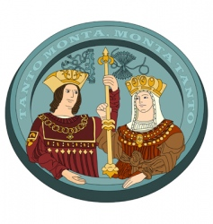 Isabella I and Ferdinand ii vector