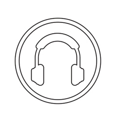 Isolated headphone device design vector image vector image