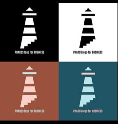 lighthouse logo pharos for business vector image