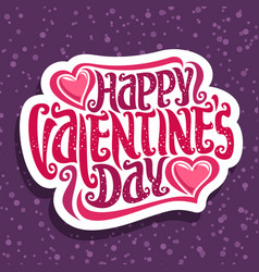 Logo for st valentines day vector