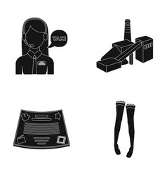 Maintenance film and or web icon in black style vector