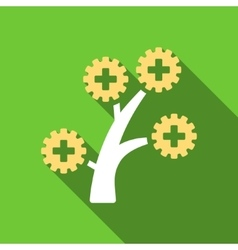 Medical Technology Tree Flat Long Shadow Square vector