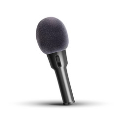 modern microphone media stand vocal vector image