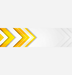 orange and grey hi-tech corporate banner design vector image