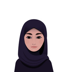 portrait of muslim beautiful woman in hijab vector image