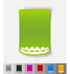 Realistic design element braces vector