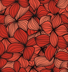 Red leaves seamless background vector image