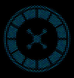 roulette collage icon of halftone circles vector image