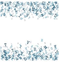 Scatterred Alphabet Background vector