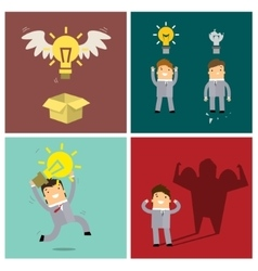 Set of idea concepts vector image