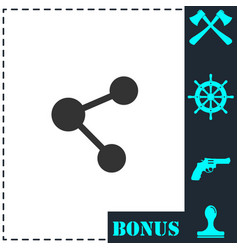 share icon flat vector image