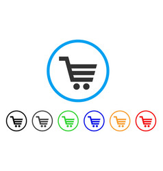 Shopping cart rounded icon vector