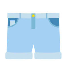 Shorts flat on white vector