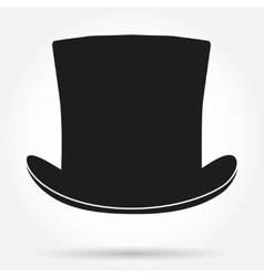 Silhouette symbol of black gentleman hat cylinder vector image