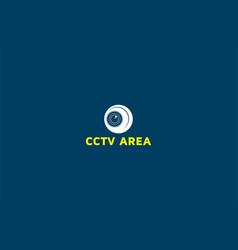 simple minimalist cctv cam camera logo design vector image