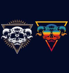 skull evil retro vector image