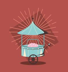 Sugar cotton cart vector