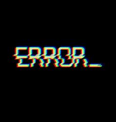 Symbol word error in glitch style vector