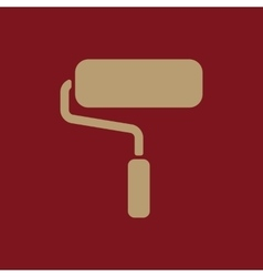 The paint roller icon decorating and painting vector