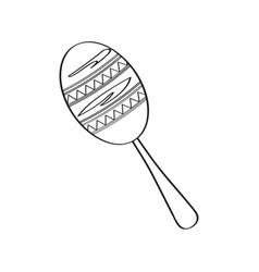 traditional mexican maraca sketch vector image