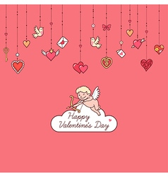 valentine card cupid vector image