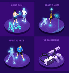 vr sports isometric design concept vector image