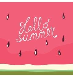 Watermelon Hello summer card vector image