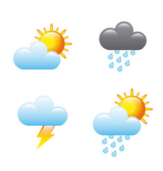 Weather condition design vector