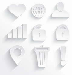 White Internet icons heart vector