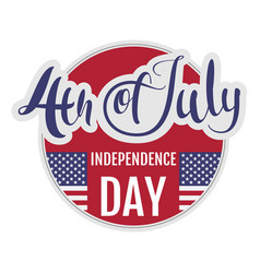 4 of july independence day star stripe flag vector image