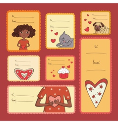 Gift tags with love vector image