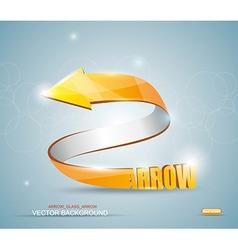 Gold Arrow Symbol vector image