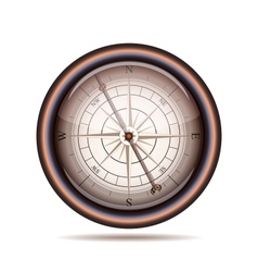 Old compass on white background vector image