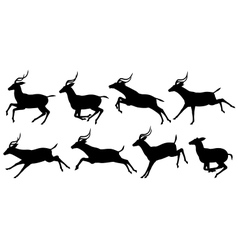 Running antelope vector image vector image