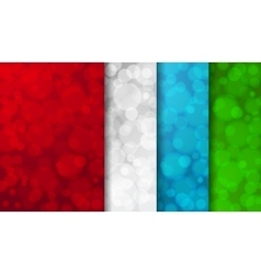 Set of colored blurred backgrounds vector image