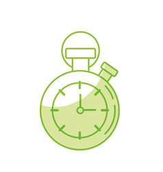 silhouette chronometer to know and meter the time vector image vector image