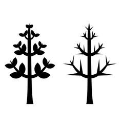 black tree silhouette vector image vector image
