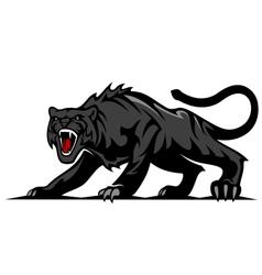 Danger black panther vector image