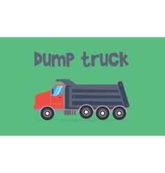 Dump truck of flat vector image