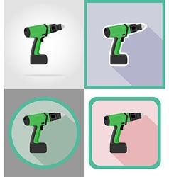 electric repair tools flat icons 07 vector image
