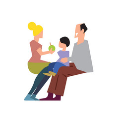happy young family with child vector image